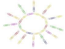 De kleurrijke geïsoleerde zon stock illustratie