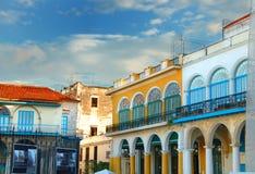De kleurrijke gebouwen van Havana royalty-vrije stock foto
