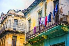 De kleurrijke gebouwen van Havana royalty-vrije stock afbeelding