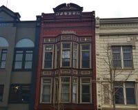 De kleurrijke gebouwen van het stadsblok Royalty-vrije Stock Afbeelding