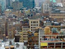 De kleurrijke gebouwen van New York Stock Foto's