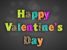 De kleurrijke Gelukkige Dag van Valentijnskaarten Stock Foto's