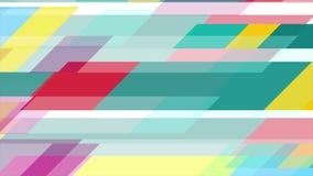 De kleurrijke geometrische minimale videoanimatie van technologie vector illustratie