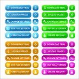De kleurrijke Geplaatste Knopen van het Web Royalty-vrije Stock Afbeelding