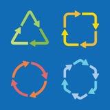 De kleurrijke geplaatste pictogrammen van de pijlvorm Vector Illustratie