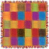 De kleurrijke geruite plaid van de dekbedgingang Stock Fotografie