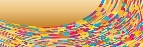 De kleurrijke gouden banner van de windslag vector illustratie