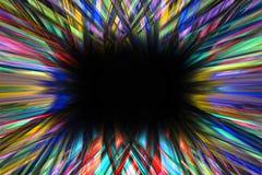 De kleurrijke grens van de starburstexplosie Stock Foto