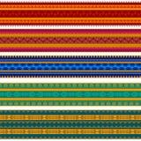 De kleurrijke Grenzen van de Henna Stock Afbeelding