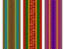 De kleurrijke Grenzen van de Henna Royalty-vrije Stock Afbeelding