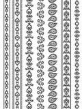 De kleurrijke Grenzen van de Henna Stock Afbeeldingen