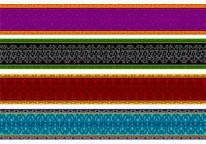 De kleurrijke Grenzen van de Henna Royalty-vrije Stock Foto