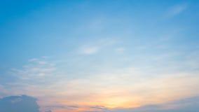 De kleurrijke Hemel van de Zonsondergang Stock Foto