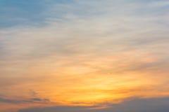De kleurrijke Hemel van de Zonsondergang Royalty-vrije Stock Afbeelding