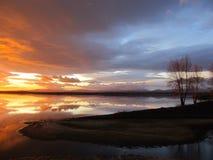 De kleurrijke hemel van de zonsopgang Stock Foto