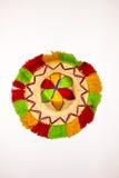De kleurrijke Hoed van de Watermens van Marrakech Royalty-vrije Stock Afbeeldingen