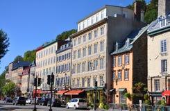 De Huizen van de steen in basse-Ville, de Stad van Quebec Stock Foto
