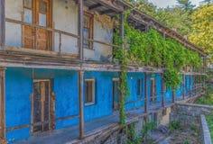 De kleurrijke huizen van Kutaisi, Georgië royalty-vrije stock foto