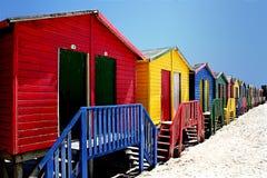 De kleurrijke Hutten van het Strand Royalty-vrije Stock Afbeelding