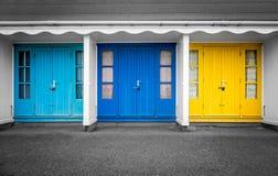 De kleurrijke Hutten van het Strand Royalty-vrije Stock Foto's