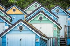 De kleurrijke Hutten van het Strand Royalty-vrije Stock Afbeeldingen
