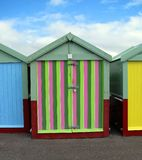 De kleurrijke Hutten van het Strand Royalty-vrije Stock Fotografie