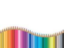 De kleurrijke illustratie van de potloodgolf vector illustratie