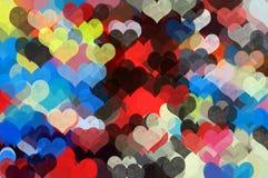 De kleurrijke illustratie van het hartenpatroon Stock Fotografie