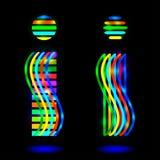 De kleurrijke illustratie van het uitroepteken voor ontwerp Stock Foto