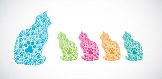 De kleurrijke illustraties van de Kat Stock Illustratie