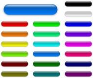De kleurrijke inzameling van Web lege knopen vector illustratie