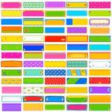 De kleurrijke jumboinzameling van de Kitschbanner Stock Afbeeldingen