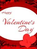 De kleurrijke kaart van de de daggroet van Heilige Valentine met harten Stock Foto's