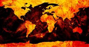 De kleurrijke kaart van de Wereld Stock Afbeelding