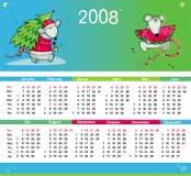 De kleurrijke kalender 2008 van ratten Stock Afbeeldingen
