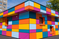 De kleurrijke kleine bouw royalty-vrije illustratie