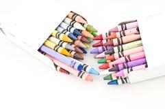 De kleurrijke Kleurpotloden van de Was Stock Afbeelding