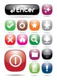 De kleurrijke knoop van het webpagepictogram Royalty-vrije Stock Foto's