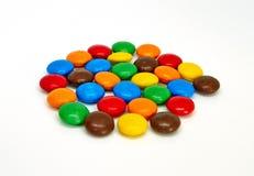 De kleurrijke Knopen van de Chocolade stock afbeelding