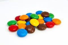 De kleurrijke Knopen van de Chocolade royalty-vrije stock foto