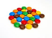 De kleurrijke Knopen van de Chocolade royalty-vrije stock afbeelding