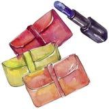 De kleurrijke koppeling en de pommadeschets vormen glamourillustratie in een geïsoleerde waterverfstijl vector illustratie