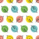 De kleurrijke krabbel verlaat naadloos patroon Royalty-vrije Stock Foto's