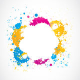 De kleurrijke krabbels van de grungeplons Stock Afbeeldingen