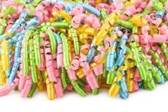 De kleurrijke Krullende Achtergrond van het Lint van de Partij Royalty-vrije Stock Afbeelding