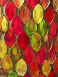 De kleurrijke kunst van het glasmozaïek en abstracte achtergrond Royalty-vrije Stock Afbeelding