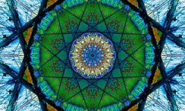 De kleurrijke Kunst van mozaïekmandala met star-shaped patronen vector illustratie