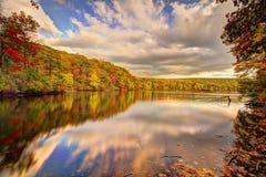 De kleurrijke landschappen van het dalingslandschap Stock Afbeeldingen