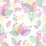 De kleurrijke Lente verlaat naadloos patroon Stock Fotografie