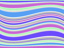 De kleurrijke lijnen van de illustratie. Vector Royalty-vrije Stock Foto